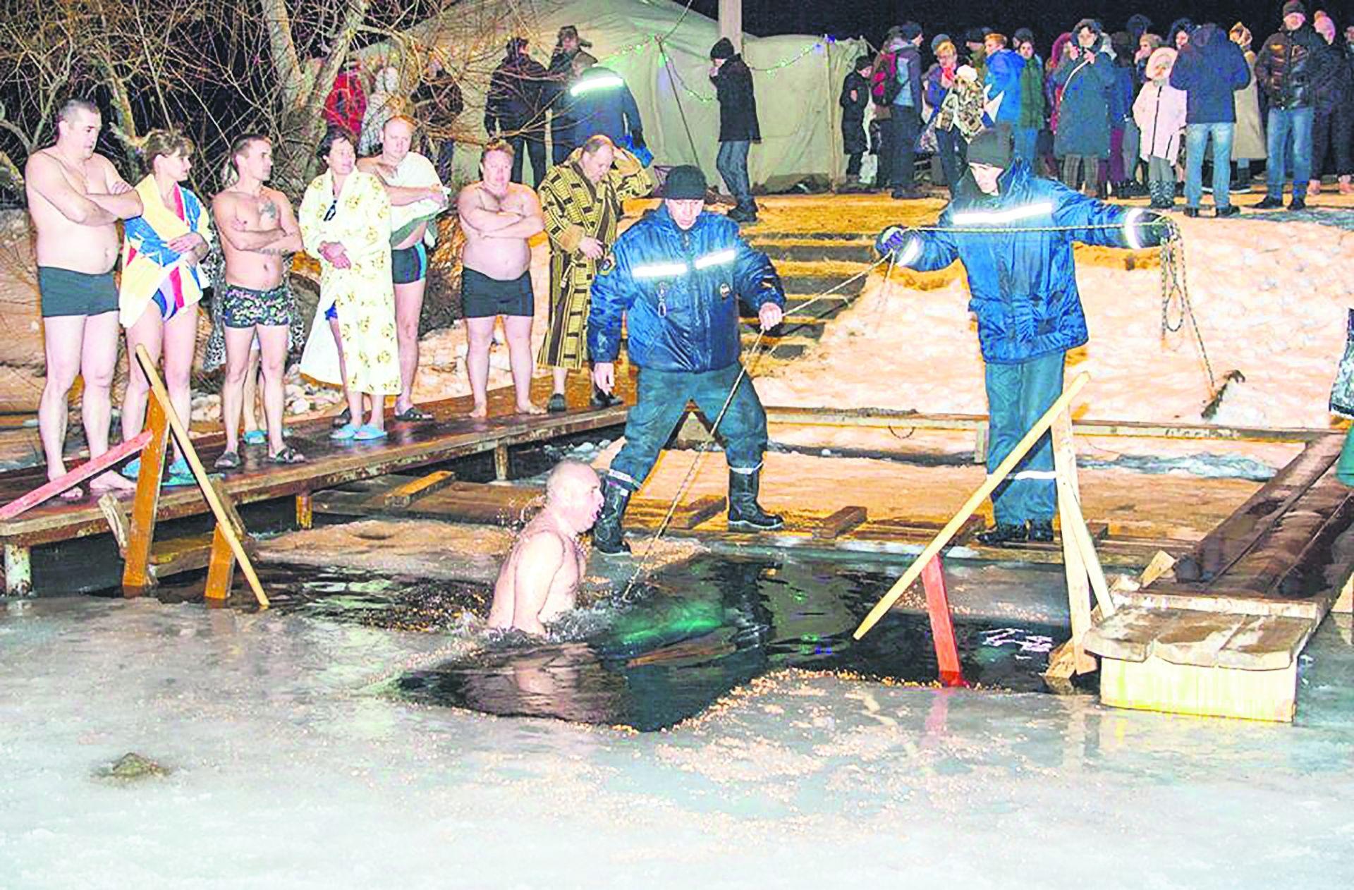 Крещенские купания в п. Коксовом