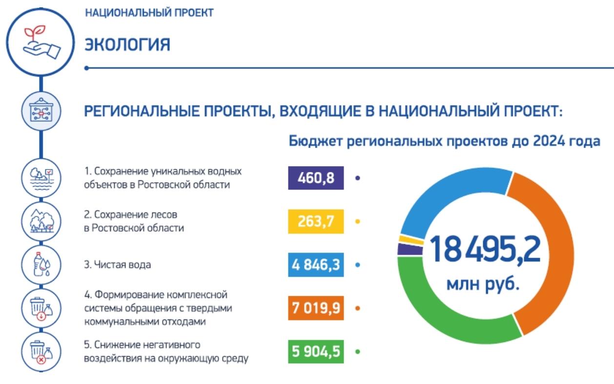 Пять федеральных экологических проектов реализуются на территории Донского края