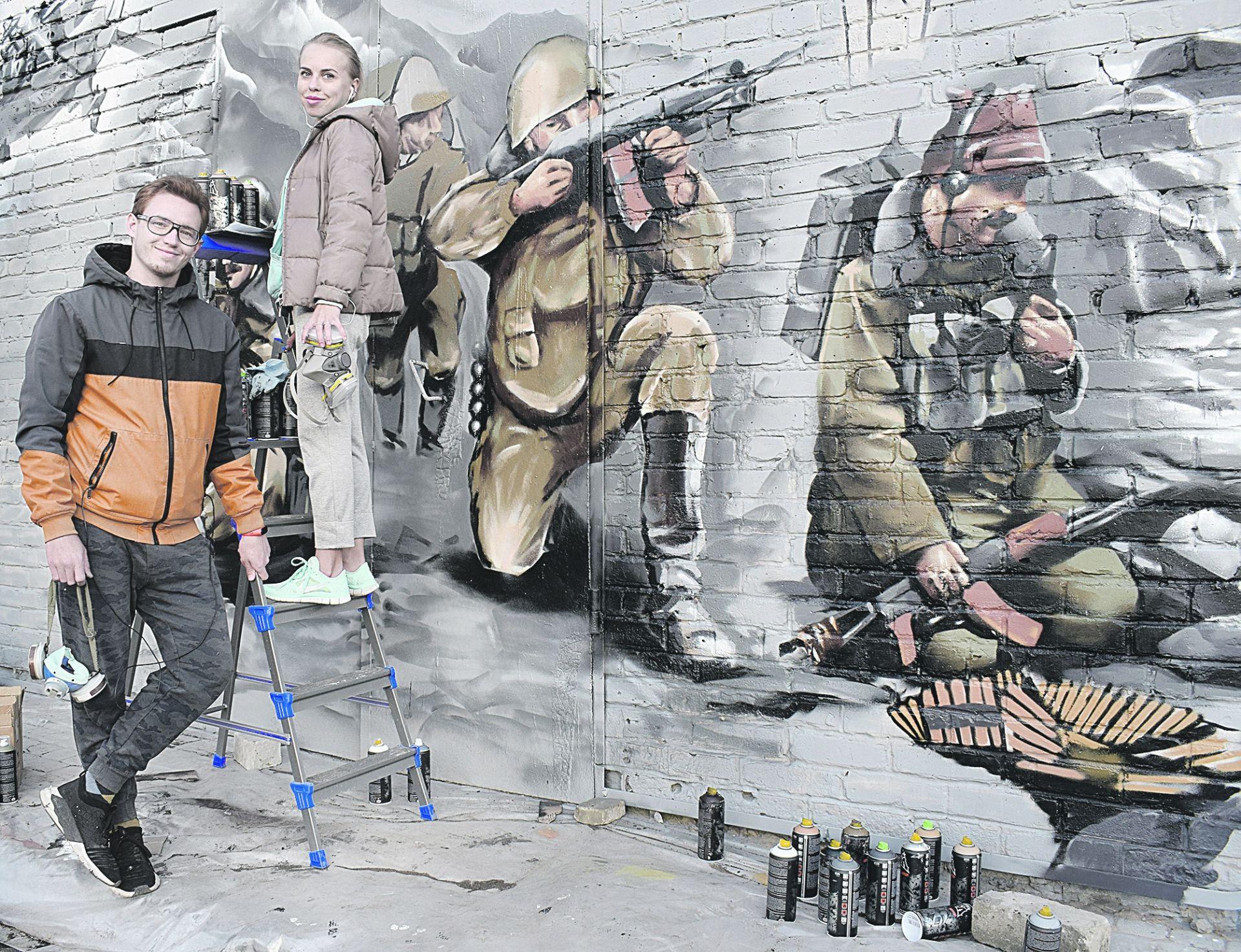 Белокалитвинский сквер «Памяти воинам афганцам» художники украсили граффити