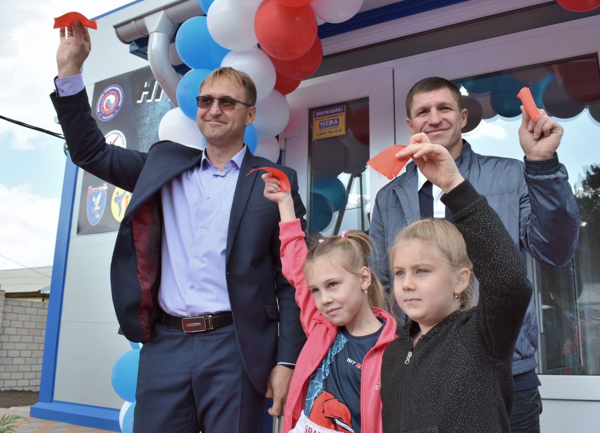 В п. Сосны Белокалитвинского района состоялось торжественное открытие нового спортивного зала