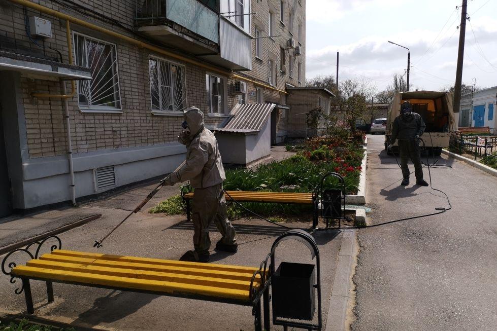 К дезинфекции муниципальных образований присоединились добровольные пожарные
