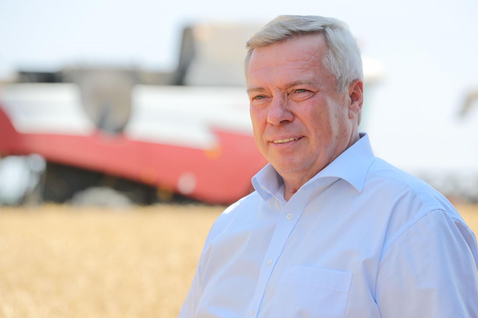 Губернатор Василий Голубев: «Донские хлеборобы намолотили уже 10 млн тонн зерна»