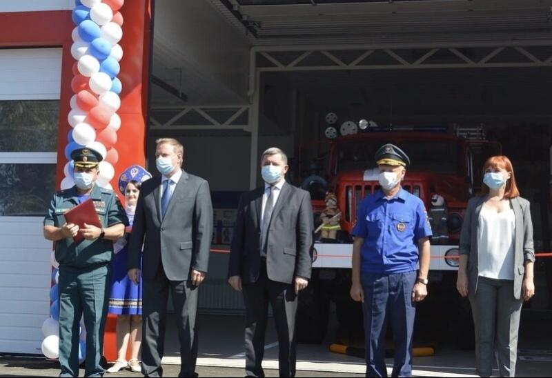 В Сальском районе открылась новая пожарно-спасательная часть