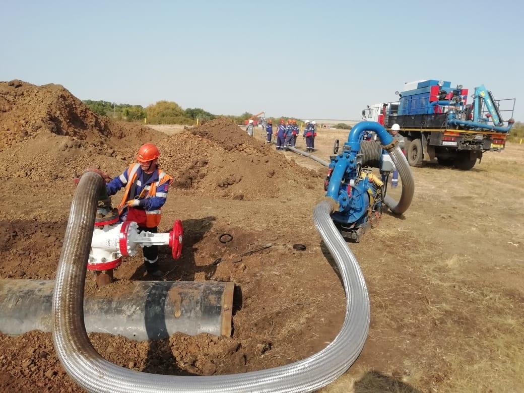 В Ростовской области проходят учения по ликвидации последствий разлива нефти и нефтепродуктов