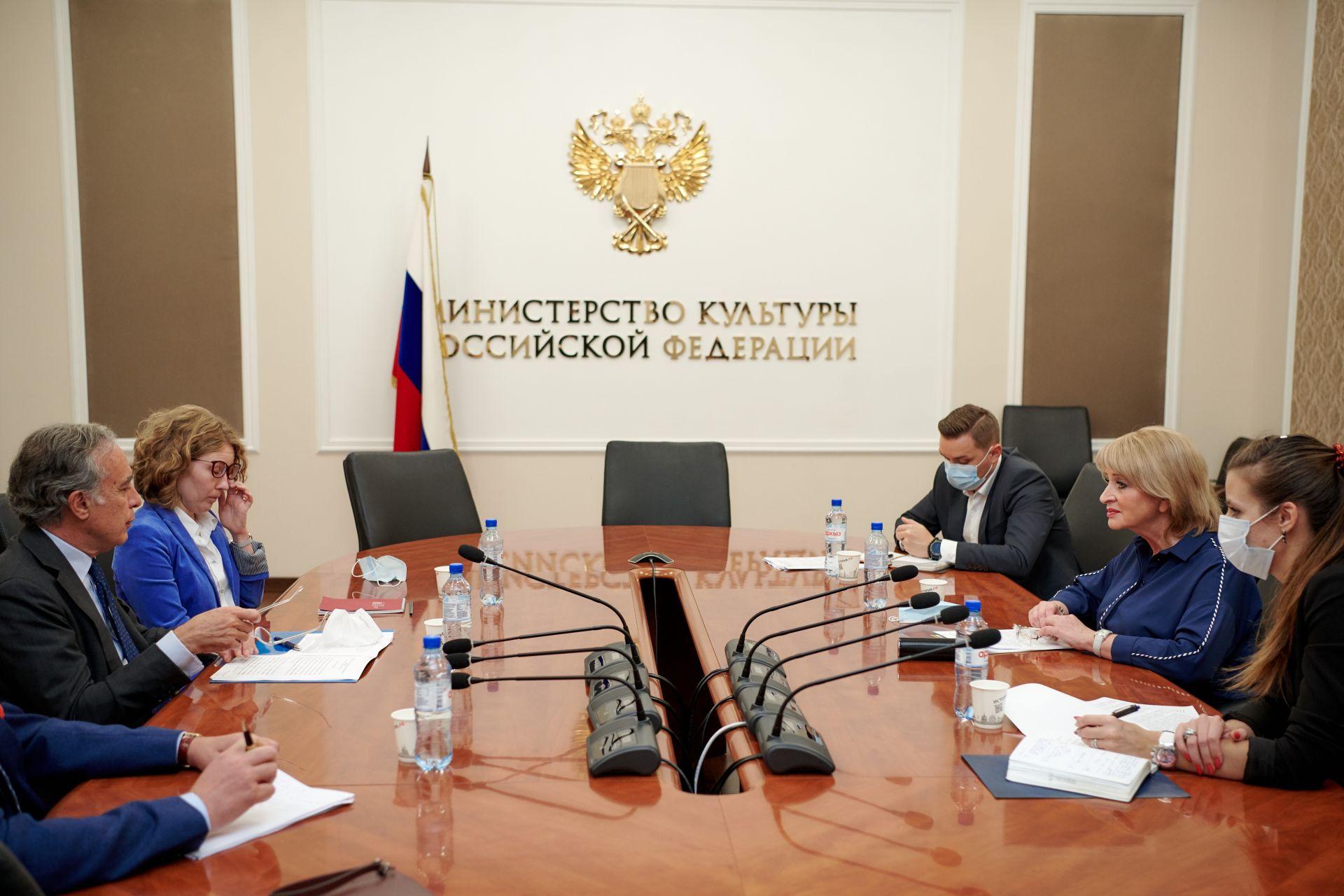 Россия и Италия обсудили вопросы двухстороннего сотрудничества в культурной сфере