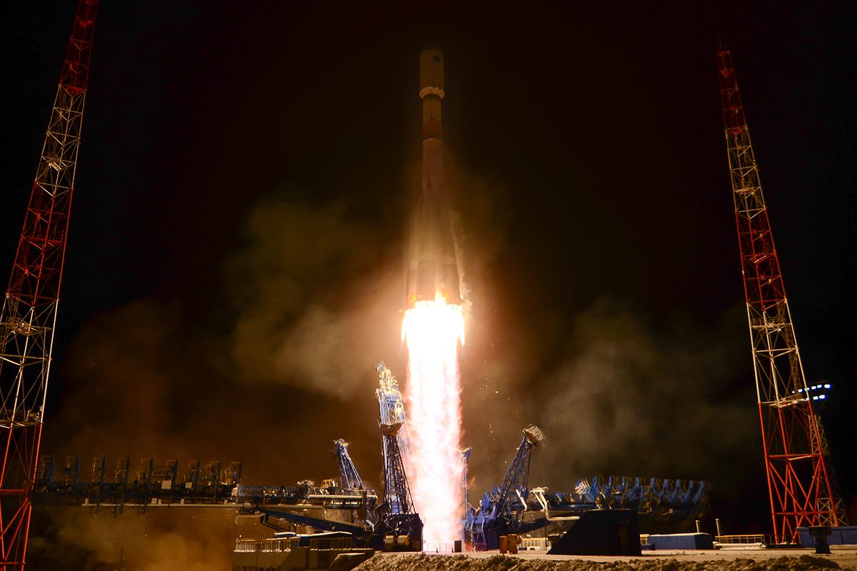Воздушно-космические силы провели пуск ракеты-носителя «Союз-2» с космодрома Плесецк