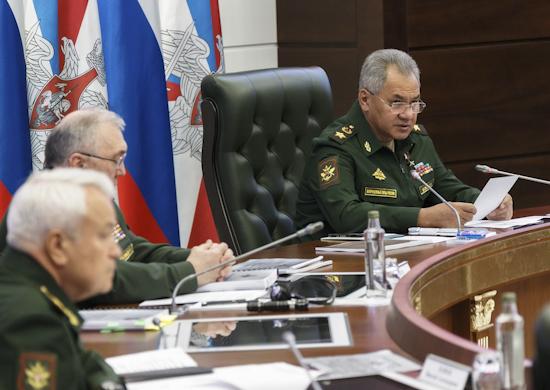 Министр обороны России провел селекторное совещание с руководящим составом Вооруженных Сил