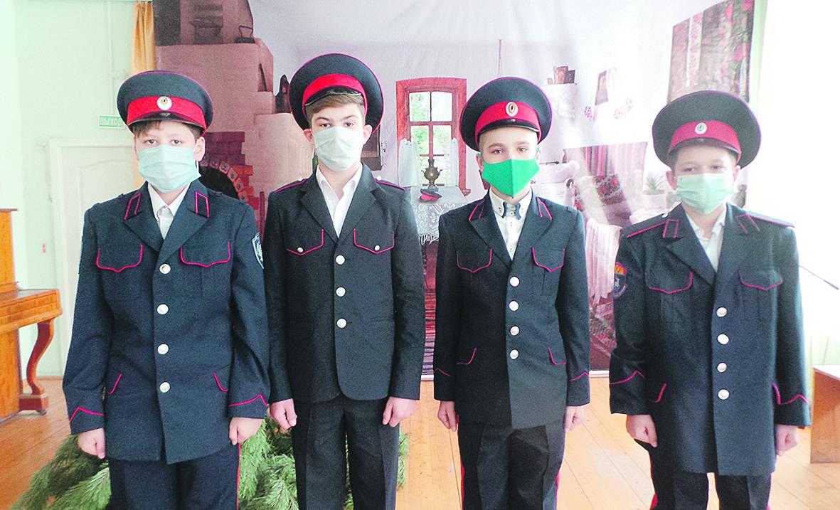 В Доме детского творчества прошли плановые занятия в районной школе юного атамана «Сполох»