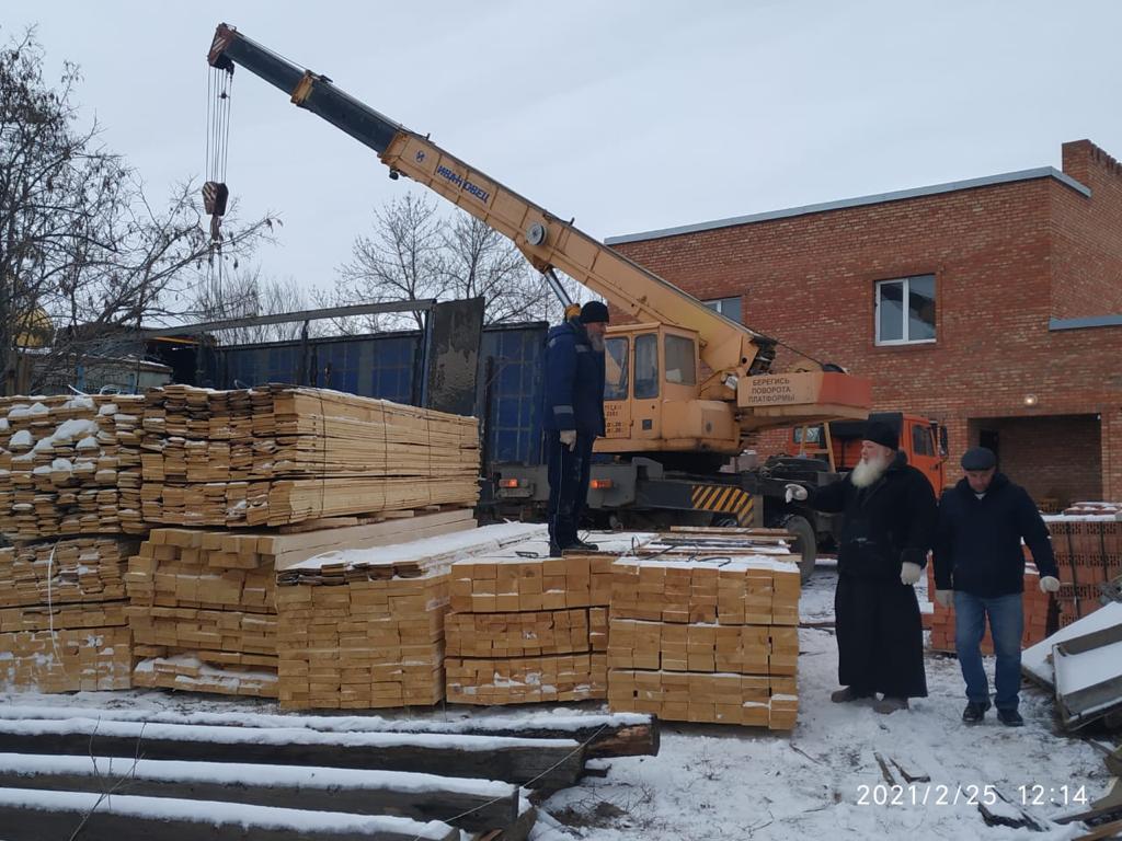 40 кубов леса – на строительство храма