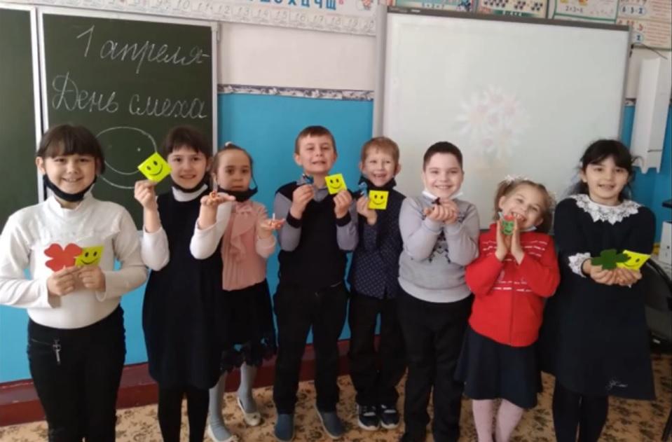 В МБОУ Чапаевская СОШ 1 апреля прошёл «День смеха»