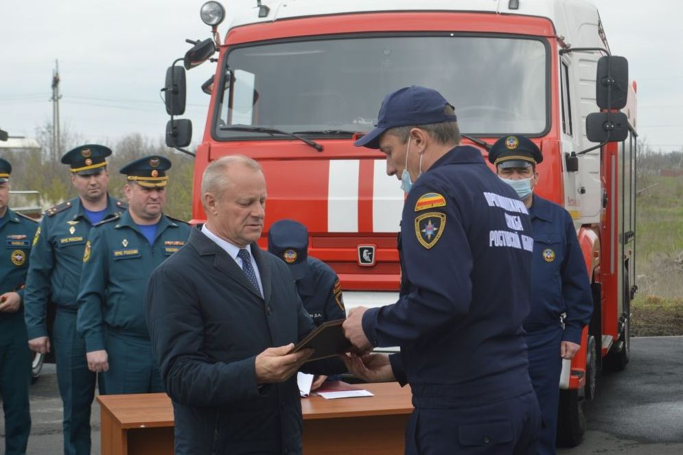 Ростовской пожарной части присвоено имя Александра Кириченко