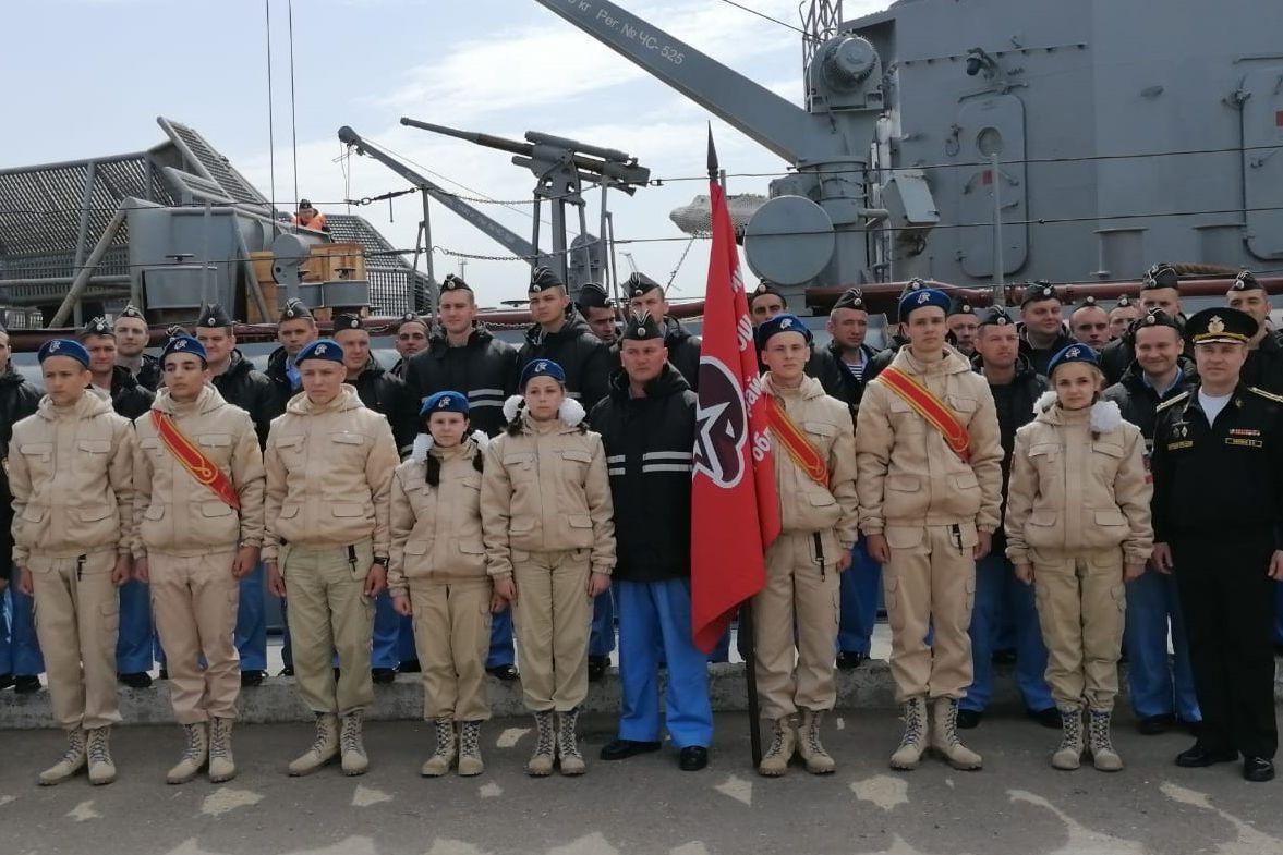 Донские юнармейцы встретили экипаж подводной лодки «Ростов-на-Дону»