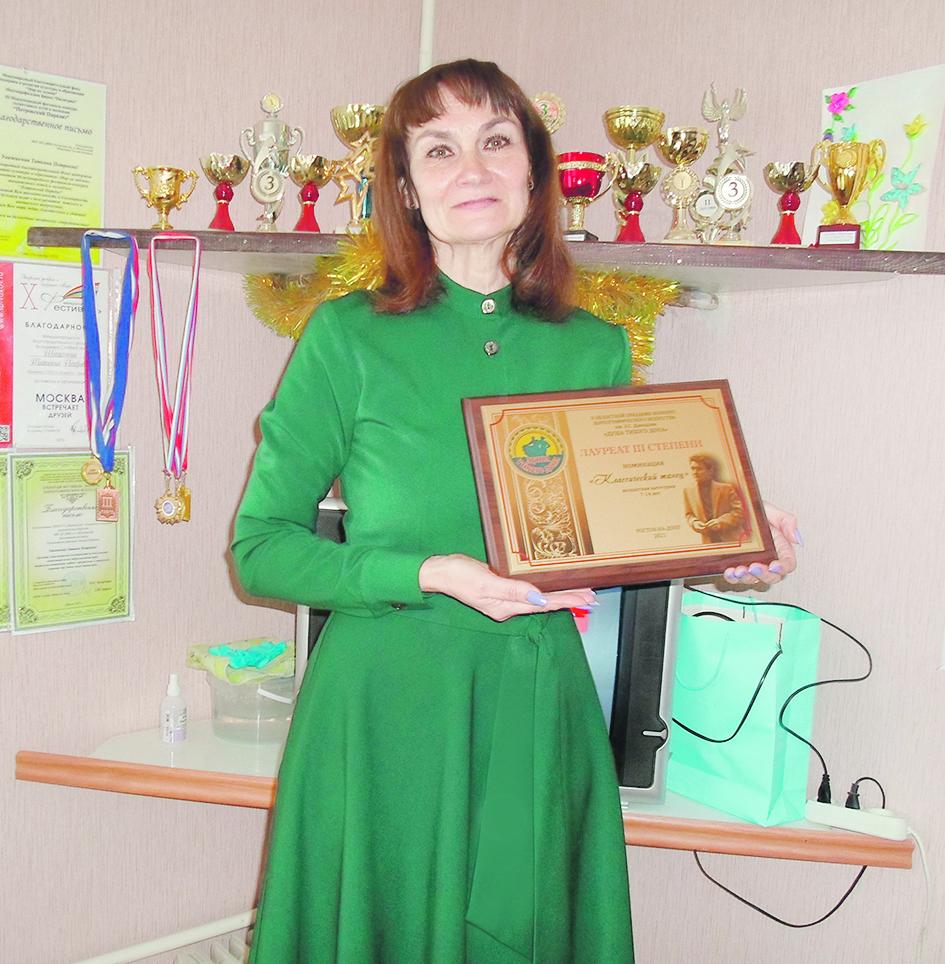 Хореограф Детской музыкальной школы п. Шолоховского отмечает юбилей