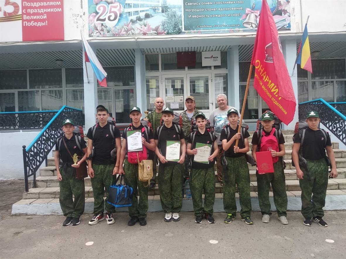 Ученики школы № 17 Белокалитвинского района получили путевку в военно-полевой лагерь «Авангард»