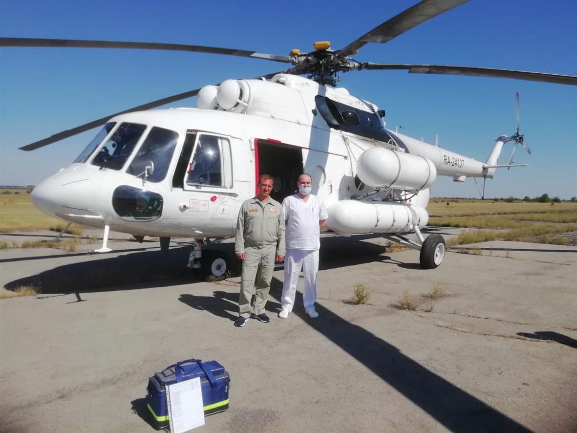 Санавиация в Белокалитвинском район: на помощь прилетел вертолет