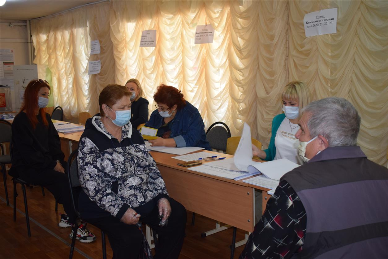 На выборы в Белокалитвинском районе пришли 54,93% избирателей